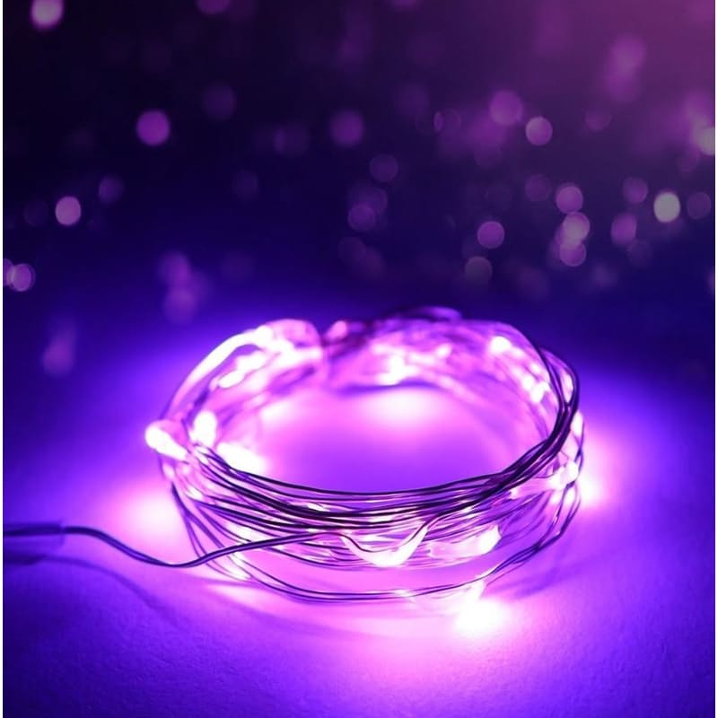 Solar 10 Meter Copper Wire Micro Fairy String Lights (Multiple Colours Available)