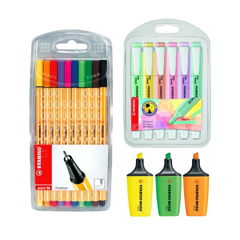 Pen, Highlighter and Mini-highlighter Bundle