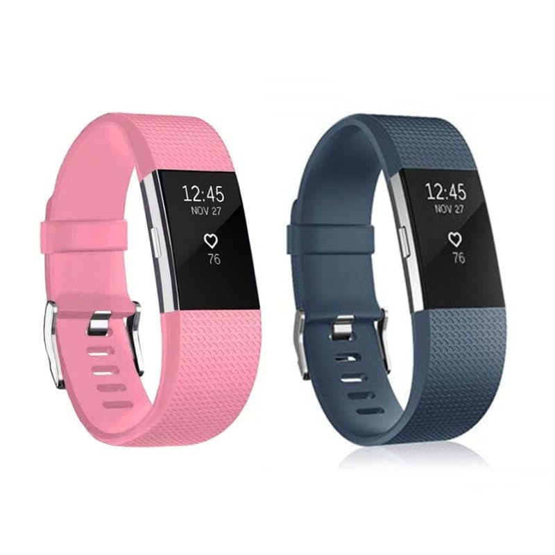 Pack of 2 Fitbit Charge 2 Silicone Straps