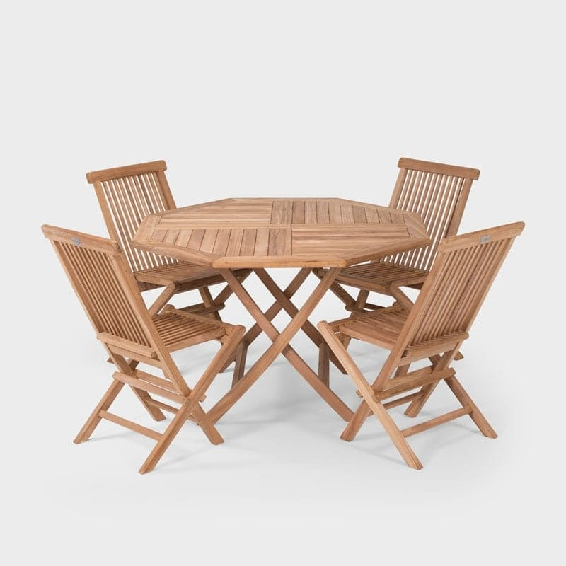 14 Off On Stratford Solid Indonesian Teak Wooden Patio Dining Set Onedayonly Co Za