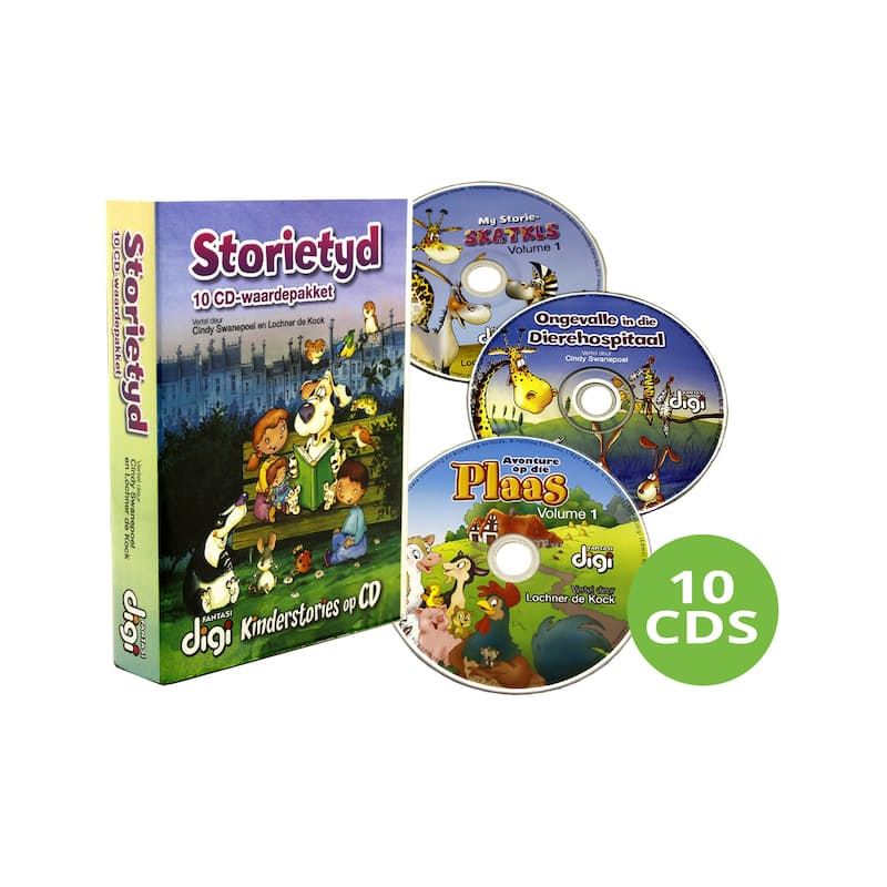 Afrikaans Children's 10 Audio Books Stories