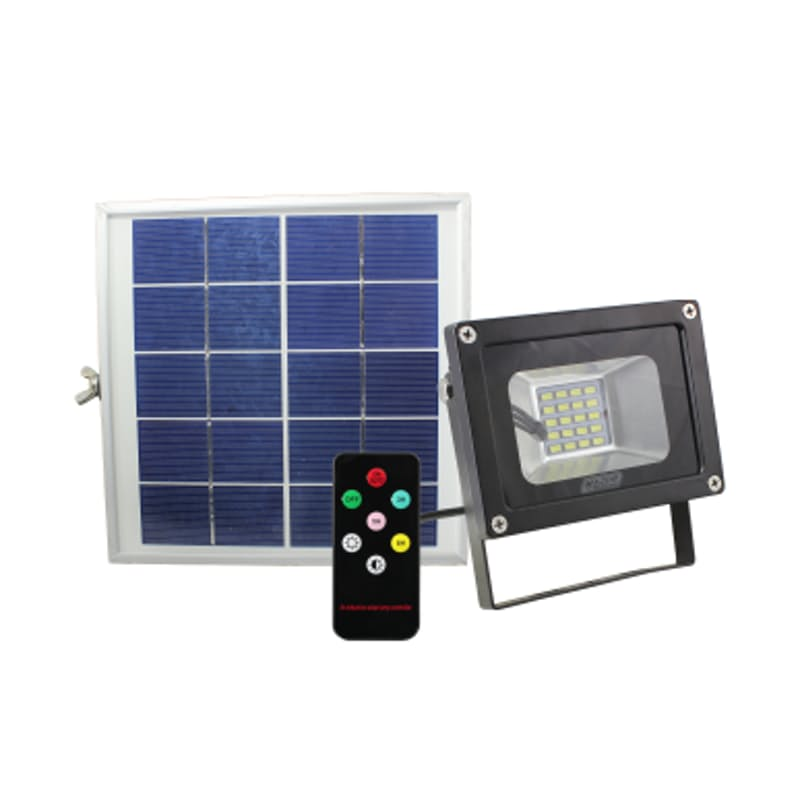 10W or 20W Solar Power LED Floodlights with a Remote