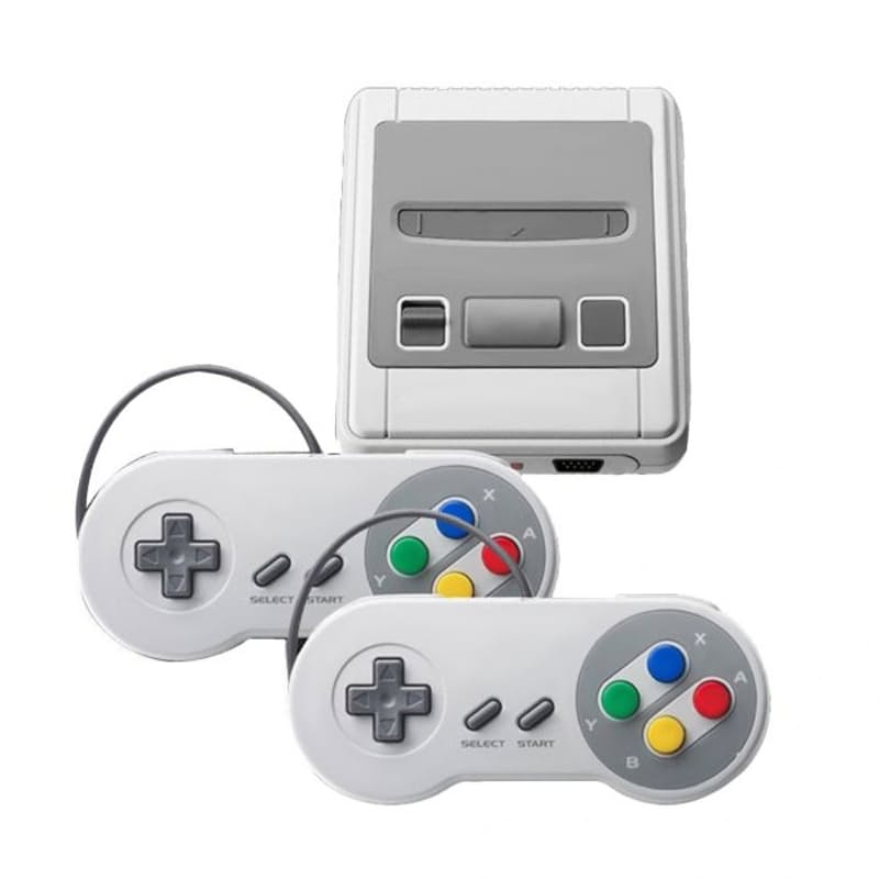 Classic 8 Bit Game Console with 2 Controllers - 400 Games Included