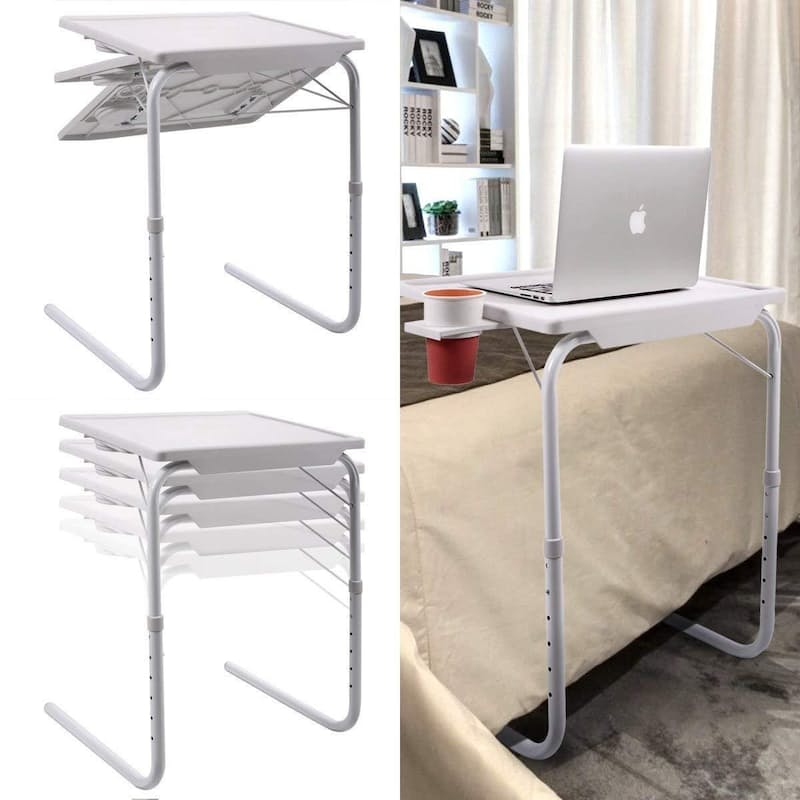 Multi-functional White Portable Table