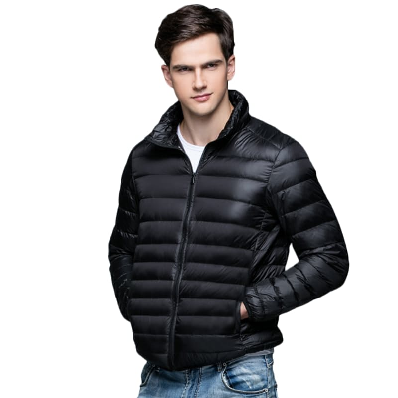 Men's Ultra-Light Genuine-Down Classic, Hooded or Sleeveless Puffer Jackets