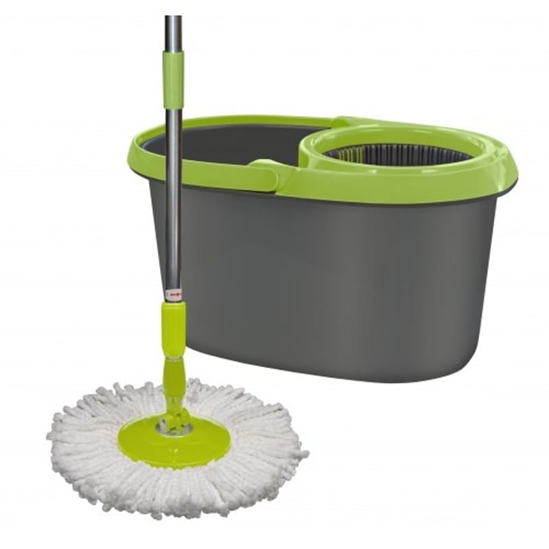 Spinning Action Mop And Dual Chamber Bucket