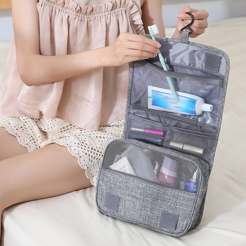 Waterproof Cosmetic Toiletry Travel Bag with Multiple Compartments