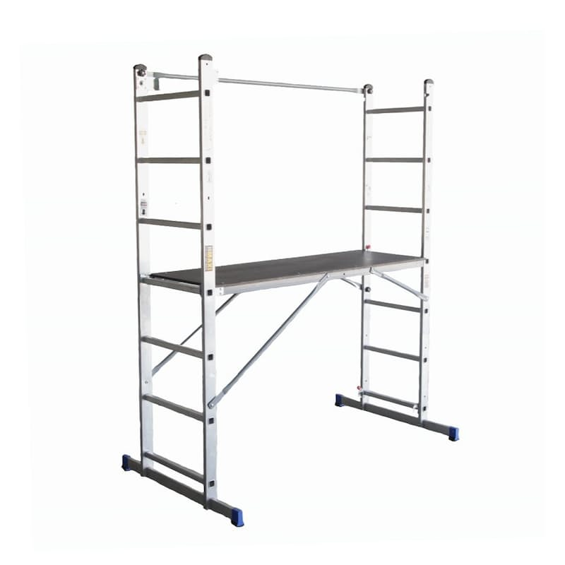 Portable Convertible Scaffold Ladder (Converts from Ladder, A-Frame , Push up Ladder to Scaffold)