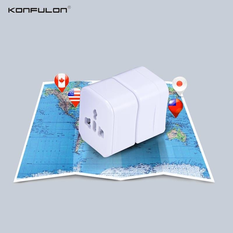 International World Plug Adapter with Hardshell Case (AU, UK, US and EU)