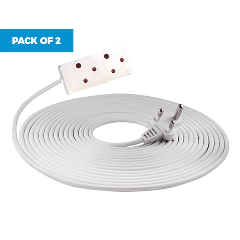 Pack of 2 20m Extension Cords