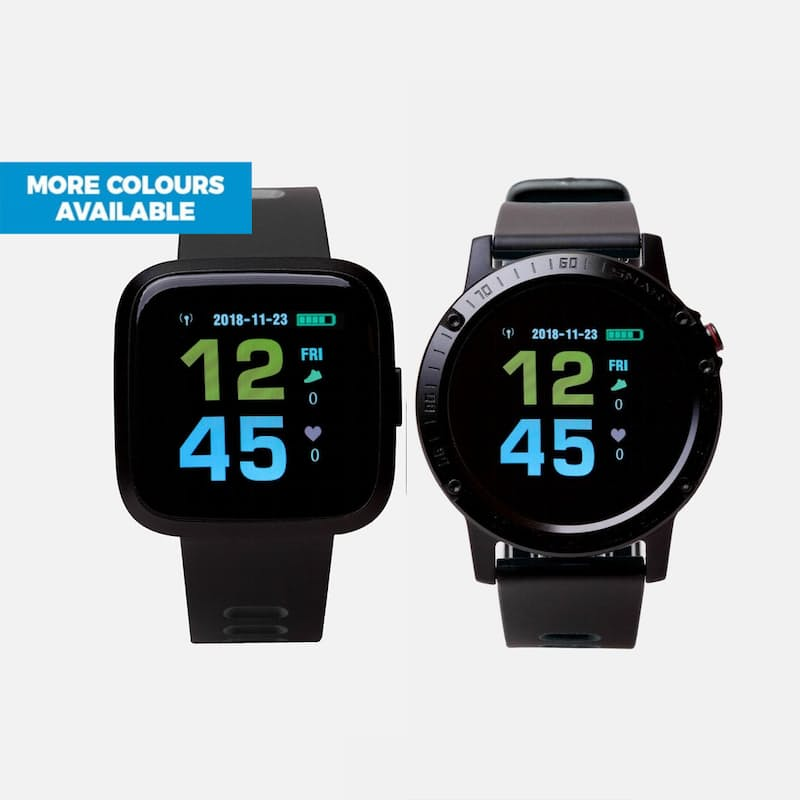 Smart Square or Round Bluetooth Watch with Heart Rate and Blood Pressure Monitor