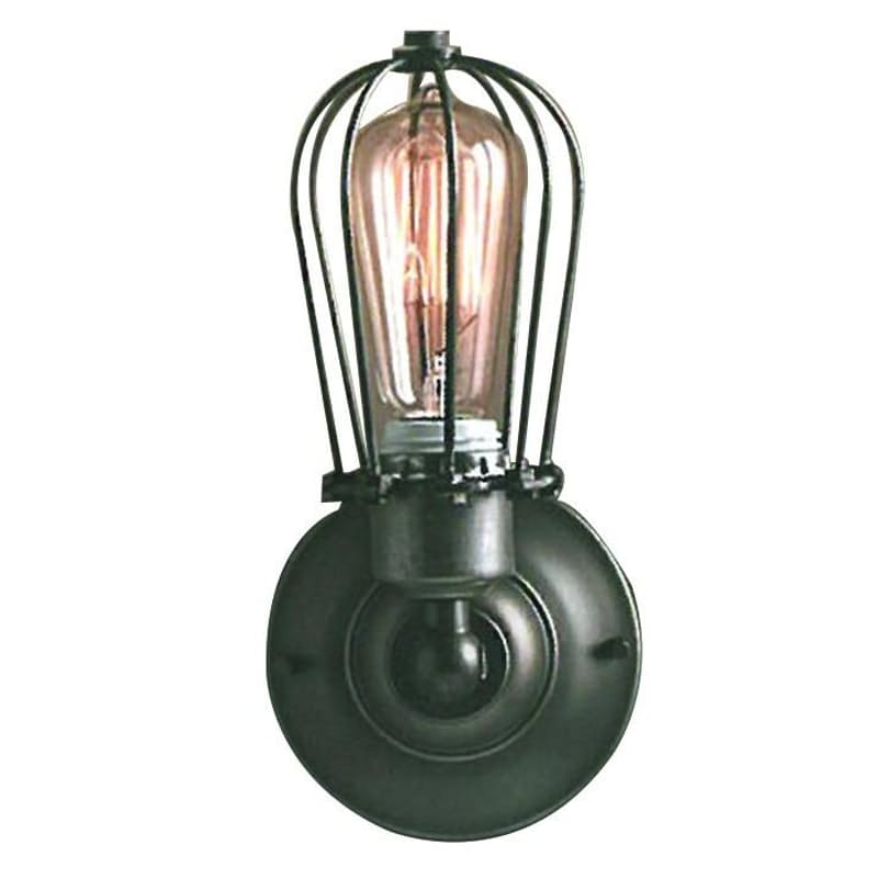 Rustic Caged Wall Light
