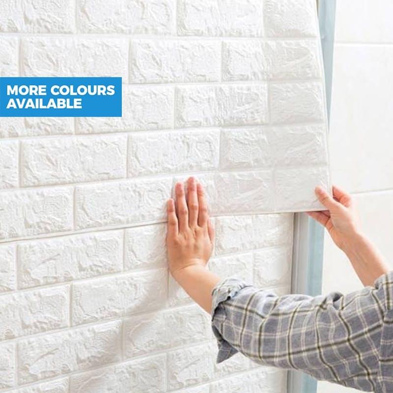 Self-adhesive Embossed Brick 3D Wallpaper (70 x 75cm)