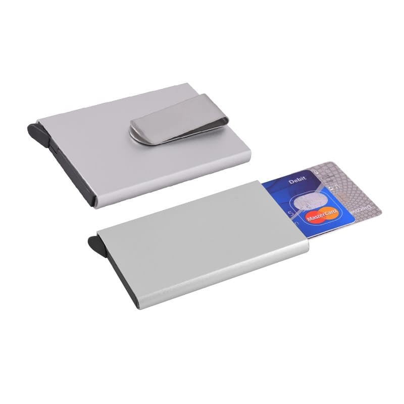 Pop-Up RFID-Blocking Card Wallet with Money Clip