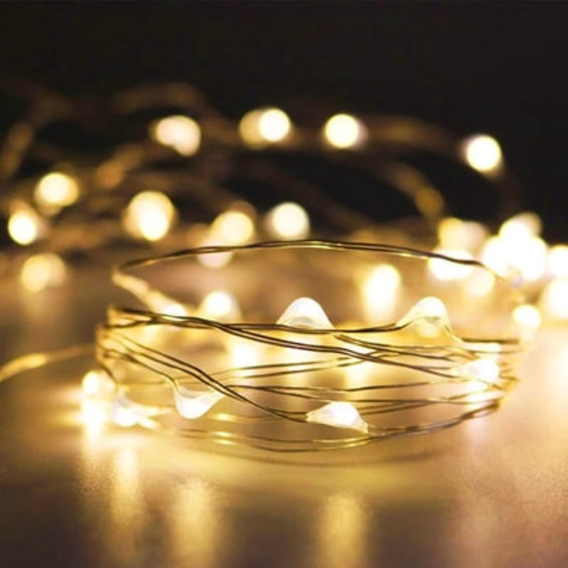 10m Copper Wire Micro Fairy String Lights (Multiple Colours Available)