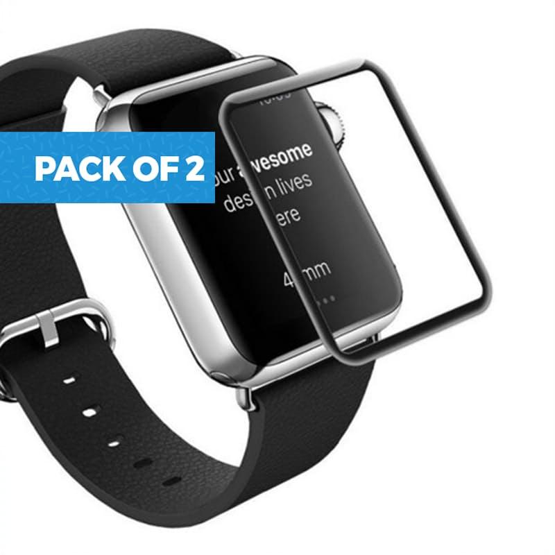 Pack of 2 Series 4 Apple Watch Full Screen Protectors (38, 40, 42 or 44mm)