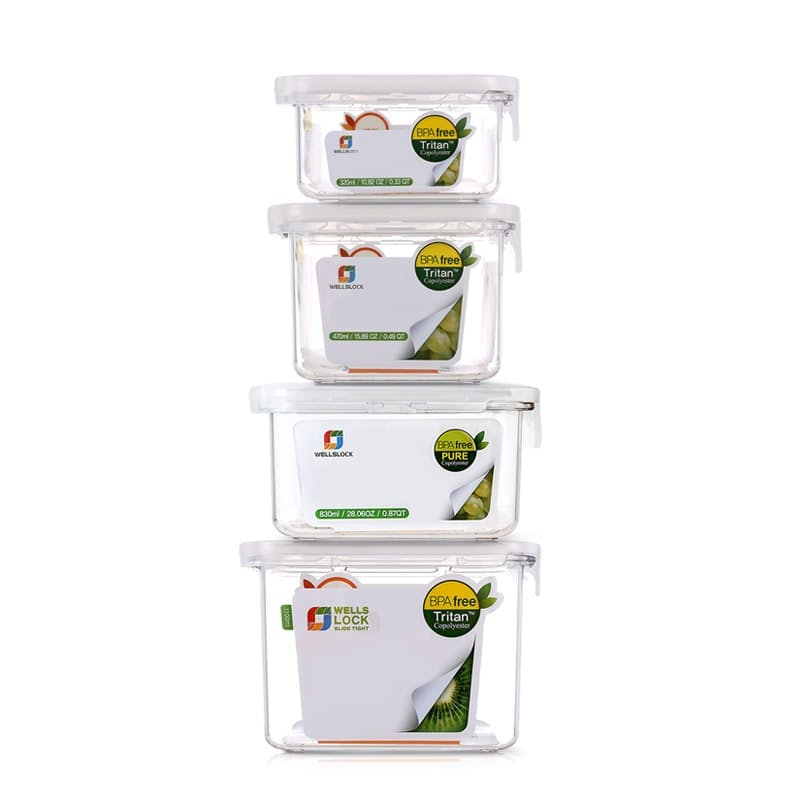 Tritan Slide Tight BPA Free Food Storage Containers (Set of 4)