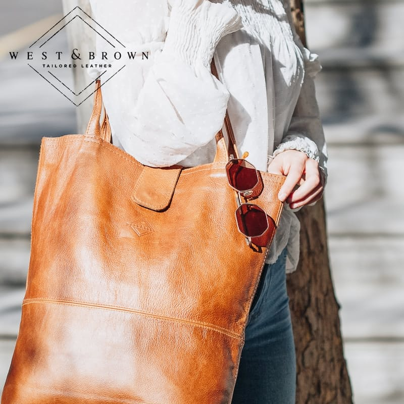 Genuine Leather Ladies Shopper Bag