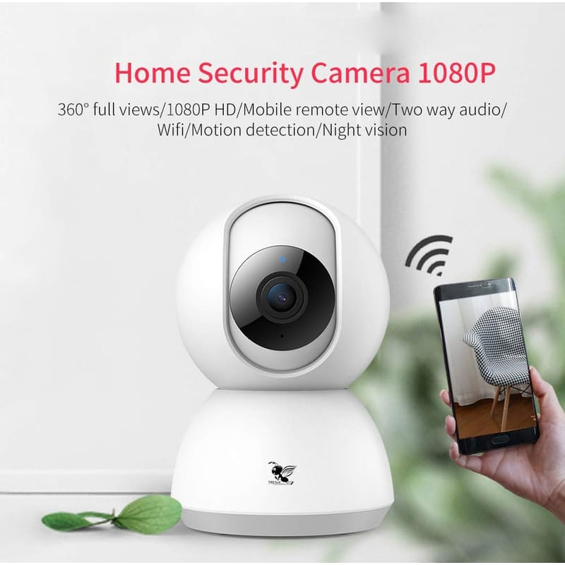 1080P Motion Detection Camera with Auto Tracking & Two-Way Audio