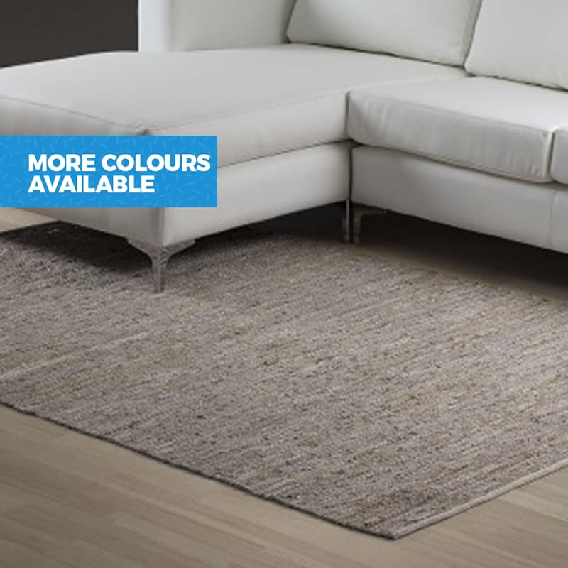 Mixed Leather/Cotton and Jute Rugs
