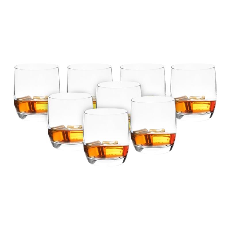 Set of 8 350ml Whiskey Glasses