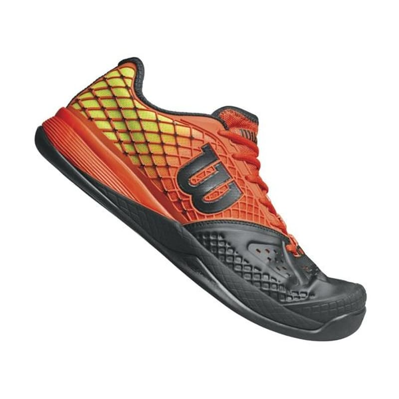 Men's Rush Pro Glide Tennis Shoes- Black/Orange